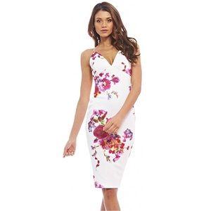 Floral Bodycon Midi Dress